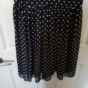Betsey Johnson Dresses - Betsey Johnson Polka-Dot Sleveless Collar Dress 10
